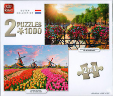 1000 Piece Jigsaws 2:1 Set King Puzzle Dutch Collection Amsterdam Tulips 05810