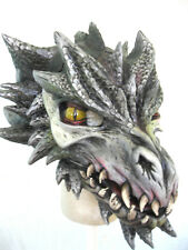 Black Draco Dragon Moving Mouth Mask Cosplay Adult Latex Halloween Mask
