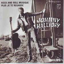 CD 2 titres JOHNNY HALLYDAY *** ROCK AND ROLL MUSIQUE ** PLUS JE TE ...    n°78