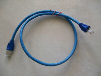 25 - 1' FT CAT5e PATCH CORD ETHERNET NETWORK CABLE BLUE Tuff Jacks Quality!