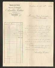"""TOULOUSE (31) TISSUS en gros / ROUENNERIE LAINAGES """"ASSALIT & FONTAN"""" 1909"""