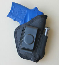 Inside Pants IWB Holster with Magazine Pouch for S&W BODYGUARD 380 Pistol Laser