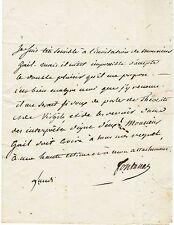 Grand-Maître de l'Université Louis de FONTANES autographe