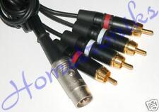 AUDIOPHILE 5 PIN DIN PLUG TO 4x PHONO (RCA) PLUGS FOR B&O, A&R ETC 1 METRE