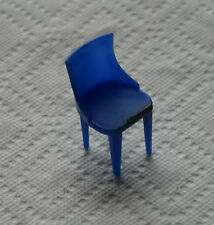Old Vintage Plasco Toy K-7 Mini Dollhouse Furniture Blue Chair Kitchen Dining