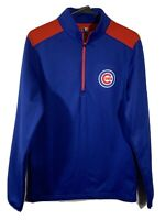 Chicago Cubs MLB. 1/4 Zip Pullover Long Sleeve. Size Small EUC