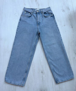 Zara Ladies Light Blue High Rise Wide Leg Baggy Jeans Size 10