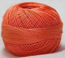 Lizbeth Cordonnet 100% Egyptian Cotton Thread Size 80 Color 706 Sunkist Coral