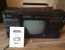 Vintage Panasonic TR1200ga Boombox Cassette TV radio Fm 80s Ghettoblaster Rare