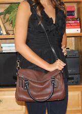 HTF Kate Spade Cobble Hill Chocolate Brown w/Black Small Leslie Bag Purse