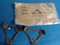 Antique 1920 Baseball steel toe plates cleats Broadtread pair NEVER OPENED