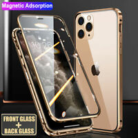 360° Magnetic Double Sides Glass Case Cover for iPhone 11 12 Pro Max/12 Mini XS