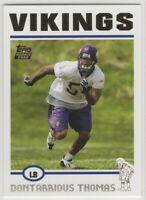 2004 Topps Football Minnesota Vikings Team Set