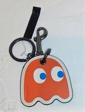 "COACH PAC-MAN Ghost ORANGE ""CLYDE"" LIMITED EDITION KEY CHAIN FOB BAG CHARM"