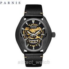 43mm Parnis Men Skull Dial Miyota Automatic Watch Sapphire Crystal Luminous Mark