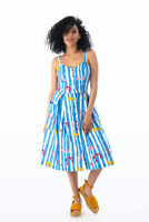 Emily and Fin Layla Sun Dress Salvation Floral Stripe
