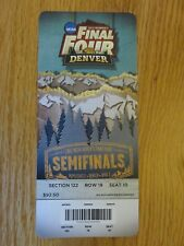 2012 NCAA Final Four Semifinals Women's Ticket S10 BAYLOR BEARS National Champs