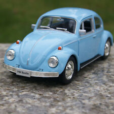 1967 Classic VW Beetle Blue Alloy Diecast Car Model Two Doors Can Be Opened Toys