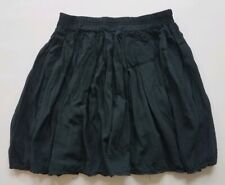 Brandy Melville Black Semi-Sheer Mini Skirt Elastic Waist O/S XS Silky Pleated