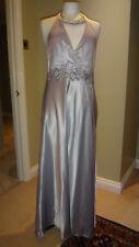 Fab John Lewis Lilac 100% Silk & Sequin Maxi Halterneck Dress Size UK 14