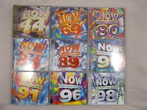 Now That's What I Call Music CD Bundle Job Lot 44 69 80 81 89 90 91 96 98