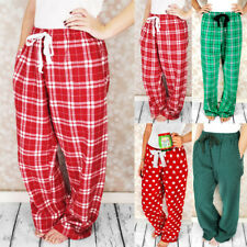 Women's Soft Lounge Sleep Pyjama Pajama Pants Fleece Winter Sleepwear
