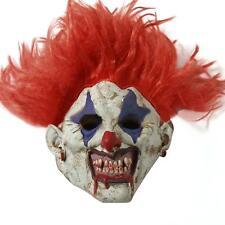 Killer CLOWN Joker RED Hair Halloween ADULT Mask Costume Scary NEW Comic EVIL