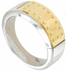 Rochet by Roma Stainless Steel Gold Plate Two-Tone Ring. Size 10.75  #A024764