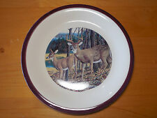 Canterbury Potteries MAJESTIC WHITE TAIL DEER Set of 4 Dinner Plates 10 3/8 A