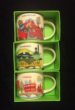 Starbucks London Birmingham Edinburgh Mug Set YAH Coffee Cup You Are Here UK New