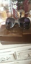 Gucci Belt Buckle Metal Framed Authentic Sunglasses