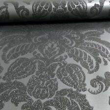 ARTHOUSE GLISTEN VICTORIAN DAMASK PATTERN FLORAL GLITTER WALLPAPER 673201