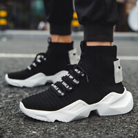 Mens High-top Socks Shoes Air1 Outdoor Jogging Warm shoes Casual Sports Shoes