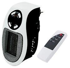 Termoventilatore Pluggy 500W mini stufetta elettrica su presa con telecomando 2