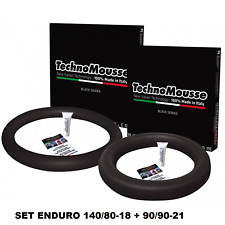 TECHNOMOUSSE COPPIA MOUSSE ENDURO 90/90/21 + 140/80/18 ANTI FORATURA PNEUMATICI
