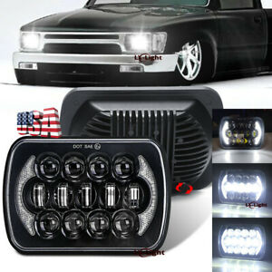 """Brightest 5X7"""" 7x6 inch Rectangle LED Cree Headlight DRL for Toyota Pickup Truck"""