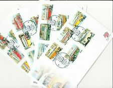 Malta. Buses 2011. 4xFDC Full set of 20 stamps. End of an Era.