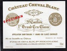 SAINT EMILION 1ER GCC VIEILLE ETIQUETTE CHATEAU CHEVAL BLANC 1977  §18/04/17§