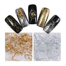 Tira De Uñas Brillo Oro Plata Espejo de Línea de Alambre de Metal Copos 3D Decoración para uñas