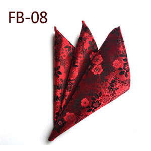 Mens Stylish Colorful Flower Paisley Pocket Square Handkerchief Wedding Hanky