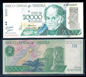 [97254] Venezuela 1998 20.000 Bolivares Bank Note VF-XF P82a
