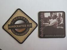 Beer COASTER ~*~ PINEHURST Village Brewery Eagle Ales ~ Aberdeen, NORTH CAROLINA