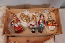Polonaise By Komozja Alice In Wonderand Hand-Blown Glass Ornaments Boxed Set