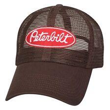 7587654aa2e Peterbilt Motors Trucks All Mesh Brown Trucker Cap Hat
