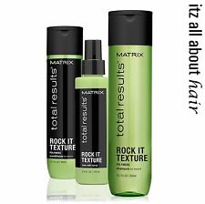 Matrix Total Results Rock It Texture Shampoo Conditioner & Sea Salt Spray  Trio