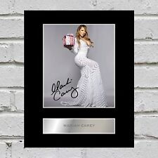 Mariah Carey Signed Mounted Photo Display #3