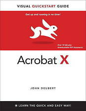 USED (GD) Adobe Acrobat X for Windows and Macintosh: Visual QuickStart Guide