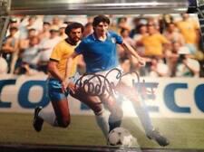 Paolo Rossi mano firmado 12 X 8 Foto Italia meta Juventus Leyenda Copa del mundo certificado de autenticidad