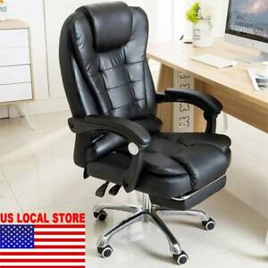 Executive Computer Office Chair Swivel Leather Recliner Gaming Chairs Desk Seat.
