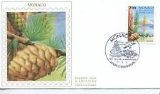 FDC / PREMIER JOUR / MONACO / FLORE / LES CONIFERES DU PARC DE MERCANTOUR 1991